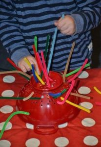 How To Develop Your Child's Hand Skills Using Pipe Cleaners step 1