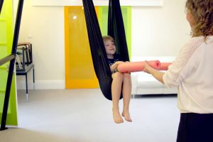 Sensory Integration - Occupational Therapist - Johanna deKort Adelaide Night and Day Family Therapy - Vuly 360 Yoga Swing